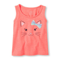 Toddler Girls Graphic Neon Tank Top | The Children's Place