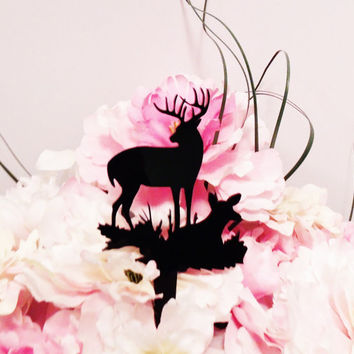 Lover Elk and Deer Cake Topper