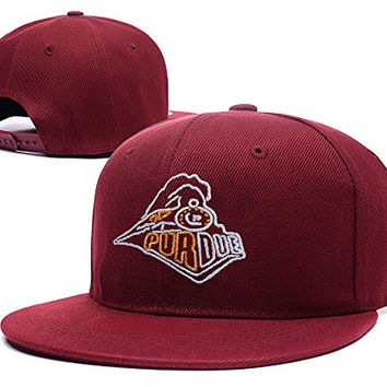 XINMEN Purdue University Train Logo Adjustable Snapback Embroidery Hats Caps - Red