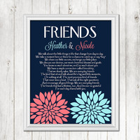 BEST FRIEND Gift - Personalized print for Best Friend, Special Friend Gift, Bridesmaids, Maid of Honor Gift, Birthday Gift,CANVAS or Prints