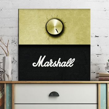 free shipment Marshall Amplifier Volume Knob music  Poster  wall Art Picture Paint on Canvas Prints P6
