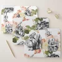 Alice in Wonderland Vintage Roses File Folders
