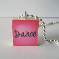 Dance Scrabble Tile Necklace