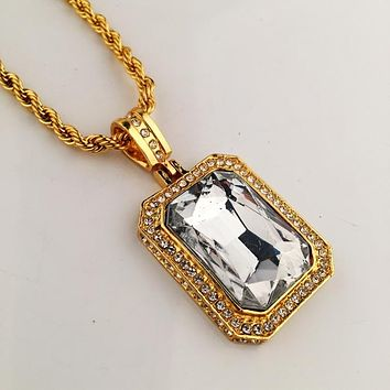 Boys & Men Fashion Hip Hop Big Diamond Necklace