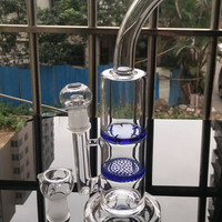 29CM Two function honey bong bongs glass water pipes Joint 18.8mm with a bong/ a bowl/ a glass dome/ a glass nail