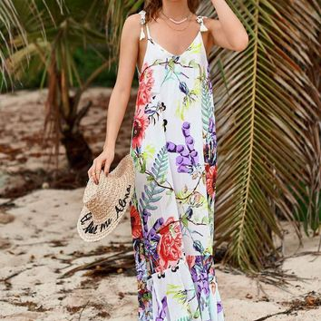 Flowery Ruffino Maxi Dress