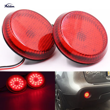 6.8CM Round Car Truck LED Tail Rear Bumper Reflector Light  Brake Stop Lamp for Scion xB iQ Toyota Sienna Corolla Qashqai