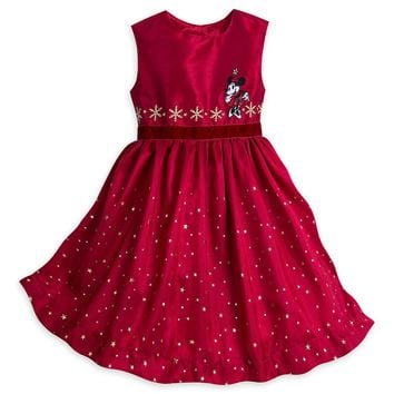 Disney Store Minnie Mouse Share the Magic Party Christmas Dress Girl 9/10