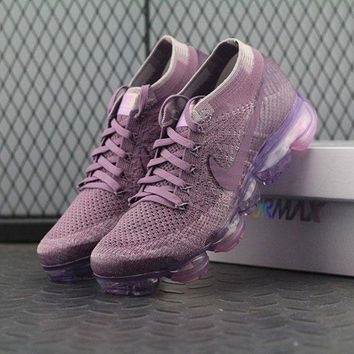 Tagre™ ONETOW Best Online Sale Nike Air VaporMax Vapor Max 2018 Flyknit Women Purple Sport Running Shoes 849557-500
