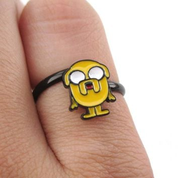 Adventure Time Jake The Dog Shaped Adjustable Ring