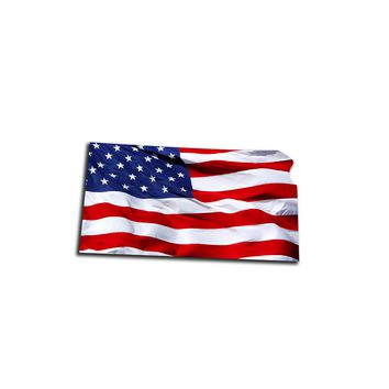 Kansas Waving USA American Flag. Patriotic Vinyl Sticker