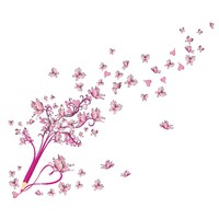 Removable PVC Butterfly Wall Stickers Art Wall Self-adhesive Wallpaper