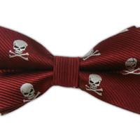 Skull and Crossbones - Red (Bow Ties) from TheTieBar.com - Wear Your Good Tie Everyday