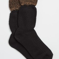 Black Extended Cuff Boot Socks