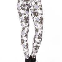 Pug Leggings-Grey-UK 14 - EU 42