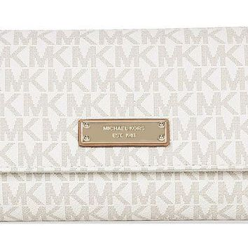DCK4S2 Michael Michael Kors Jet Set Signature Checkbook Wallet