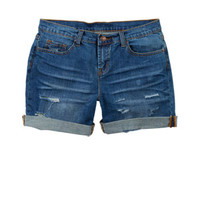 Tomboy Slouch Medium Short - Medium Blue