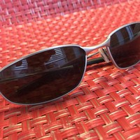 Oakley Whisker Sunglasses - silver frame black lenses