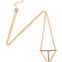 T-Bar Triangle Necklace