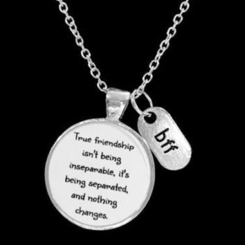 Best Friends True Friendship Long Distance Friend Sisters BFF Gift Necklace