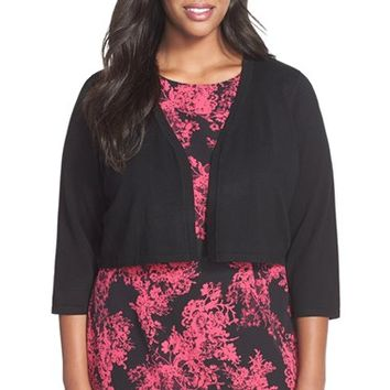 Plus Size Women's Chetta B Knit Shrug,