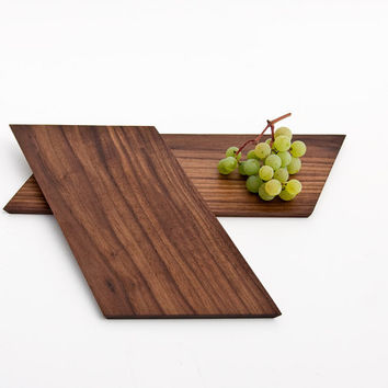 Wood Serving Board / Snack Board / Cutting Board / Serving Platter / Cheese Board / Breakfast Board KYO - Set of Two