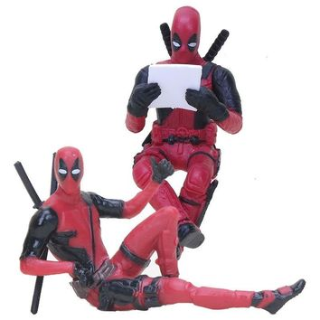 Deadpool Dead pool Taco  2 Thanos Action Figure Sitting Posture Model Mini Doll Collection Figurine Toys For Boys 7cm AT_70_6