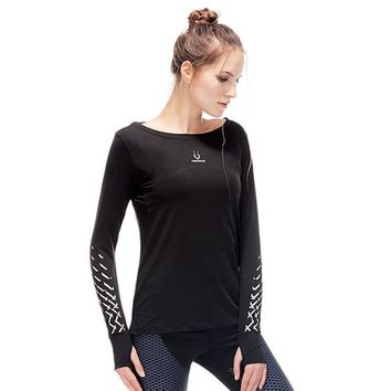Long Sleeve Hygroscopic Fitness T-Shirt