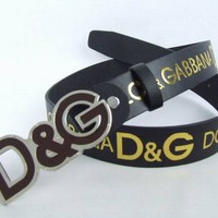 Cheap D&G Dolce & Gabbana Genuine Leather belts woman's and men's Business Waistband Belt Luxury Casual fashion Belt sale-84336