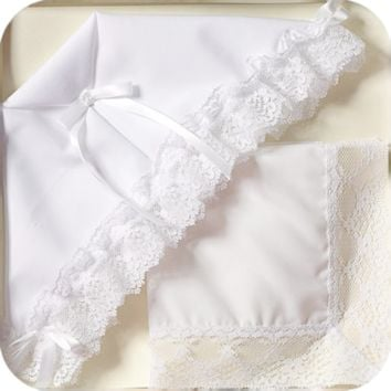 Christening Bonnet to Wedding Trousseau 3 Pc Gift Set (Infant Girls)