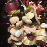 disney christmas ornament victorian minnie and mickey sweethearts new with tags