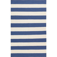 Lake Blue Striped Rug