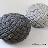 20 off  KNOTTY floor cushion 80x80x40 cm dark or by kumekodesign