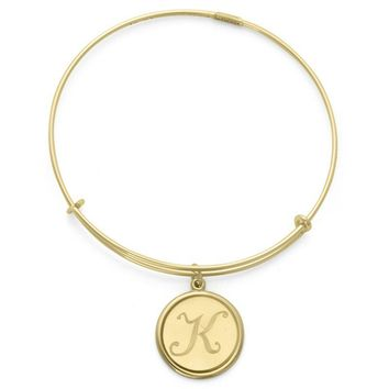 Alex and Ani Precious Initial K Charm Bangle - 14kt Gold Filled