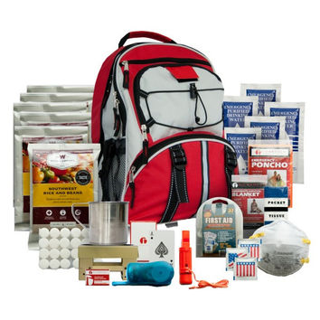 Wise Company 5-Day Emergency Survival First Aid Kit with Food & Water for One Person (Red)