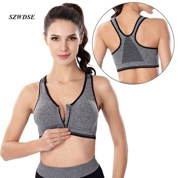 Women summer tops clothes bodybuilding Female NO Steel ring Quick to dry Breathable Sexy Bra tank short vest sweatsuit for girls