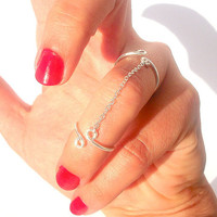 Cute Rings - Dainty  Rings - Double Chain Ring by Tiny Box