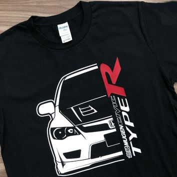 Classic Japanese Car Fans Civic Mugen Fd2R T-Shirt tshirt Homme 2018 New Sleeve Harajuku Tops Band Tee Shirts