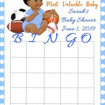 10 Sport Baby Shower Bingo Cards