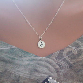Running Fitness Charm Necklace