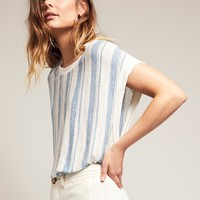 Free People Calabasas Stripe Muscle Tunic