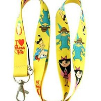 Phineas and Ferb neck lanyard - 20mm x 46cm Cell Phone Lanyard Keys Id MP3 Holder Neck Straps