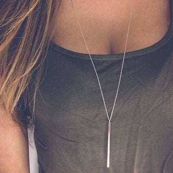 Simple Sliver Plated Chain Necklace