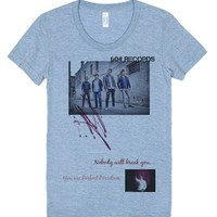 Face the music-Female Athletic Blue T-Shirt