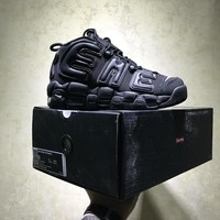 Best Online Sale Supreme X Nike Air More Uptempo Retro Sport Baskerball Black Sneaker 902290 001