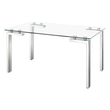 Roca Dining Table Stainless Steel Polished Stainless Steel