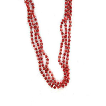 Happy Valentine's Day Red Party Bead Necklaces