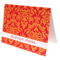 Folded Personal Stationery Set with Bold Pattern