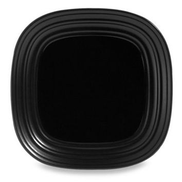 Mikasa® Swirl Square 10 3/4-Inch Dinner Plate in Black