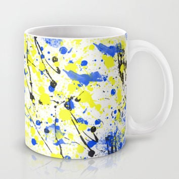 Splatter Painted Minion  Mug by Trinity Bennett
